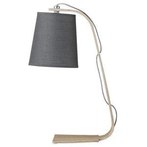Bloomingville Tafellamp - grey shade/wood base
