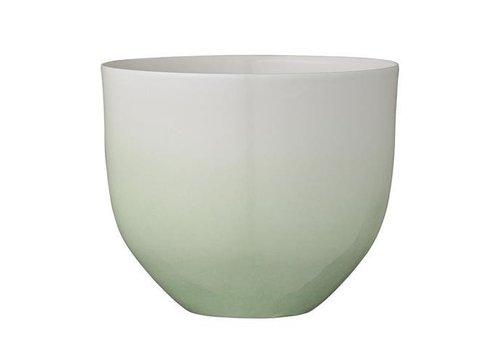 Bloomingville Bloempot Gradient Groen/Wit