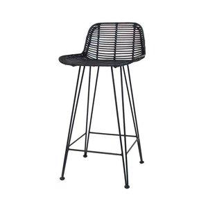 HK Living rotan counter stoel - ZH 67