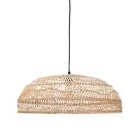 Rieten hanglamp medium