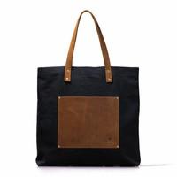 Lou's big bag black handtas