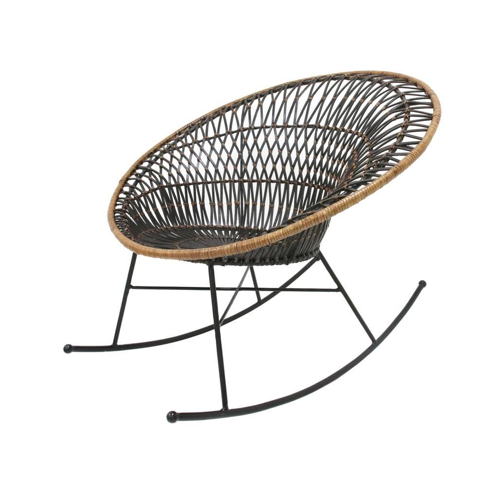 Kussen Voor Rotan Schommelstoel.Rotan Schommelstoel Vida Design