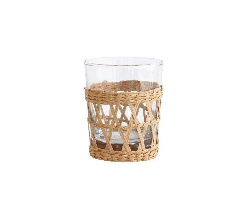 Drinkglas met rieten handvat (6 stuks)