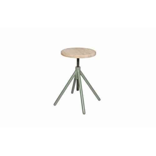 WOOOD Lily metalen stoel met houten top