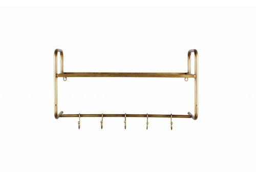 BePureHome Hatstand hangende kapstok metaal antique brass