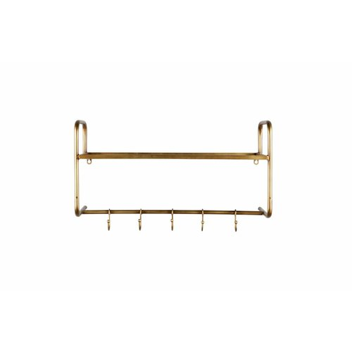 BePureHome Hatstand hangende kapstok metaal antique brass