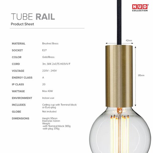 Nud Collection Socket rail messing