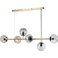 Orb hanglamp mat antiek messing