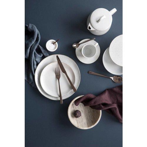 Broste Copenhagen Hune bestek roestvrij staal titanium espresso