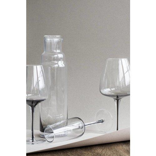 Broste Copenhagen Smoke rodewijnglas doorzichtig/grijs