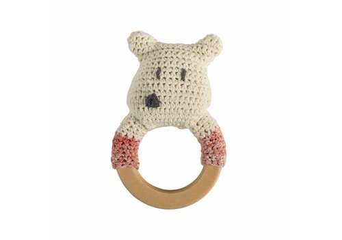 Gehaakte rammelaar ijsbeer ring
