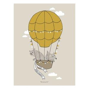 Bloomingville Bruine poster ballon 30x40cm
