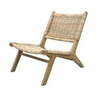rieten lounge stoel