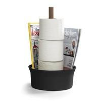 Angle Toiletpapierrolhouder zwart