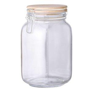Bloomingville Glazen voorraadpot met deksel 11xh20cm