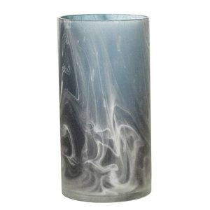 Bloomingville Blauwe vaas glas