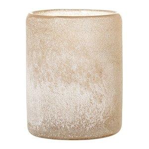 Bloomingville Bruine theelichthouder glas