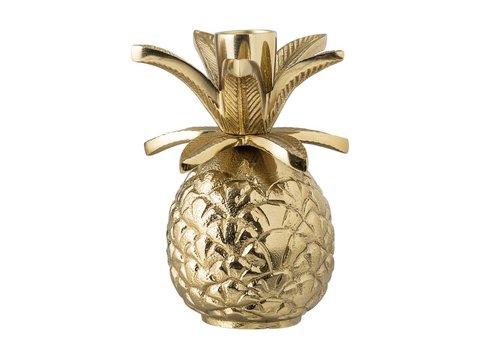 Bloomingville Kaarshouder goud aluminium ananas