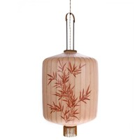 Traditionele stoffen lantaarn hanglamp huidskleur in XL