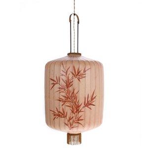 HK Living Traditionele stoffen lantaarn hanglamp huidskleur in XL