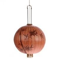 Traditionele stoffen lantaarn hanglamp in terra XL