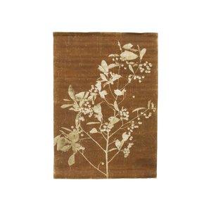 HK Living Linnen wandkaart Blueberry Twig