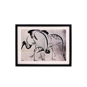 HK Living Kunstlijst met afbeelding kraanvogels
