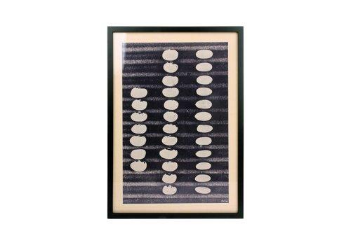 HK Living Kunstlijst met abstracte afbeelding