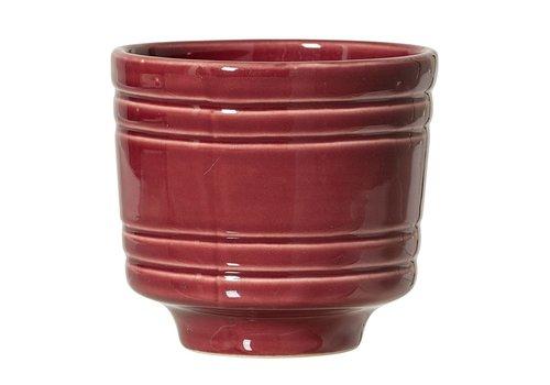 Bloomingville Bloempot in keramiek rood Ø10 x H9 cm