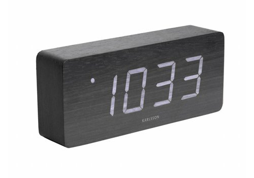 Karlsson Tube alarmklok Wit LED tafelmodel