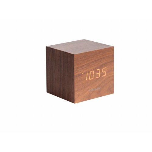 Karlsson Mini Cube alarmklok Wit LED tafelmodel