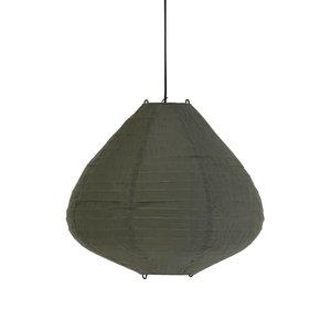 HK Living Stoffen lampion 50cm leger groen