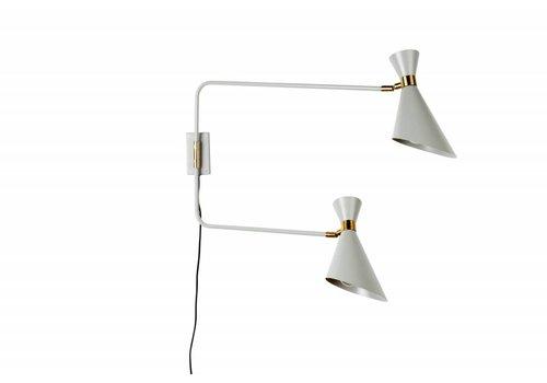 Zuiver Shady dubbele wandlamp
