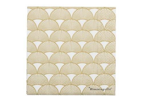 Bloomingville Papieren servetten - goud L33xH2xW33 - pak van 20