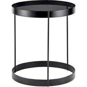 Bolia Drum bijzettafel grijs glas 40 cm