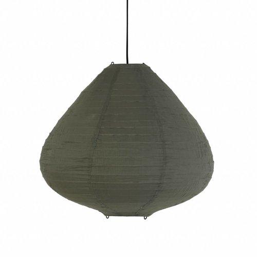 HK Living stoffen lampion hanglamp 65cm leger groen
