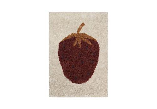 Ferm Living Fruiticana tapijt Aardbei Small