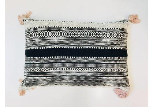 Asianmood Kussen katoen zwart/beige 40x60