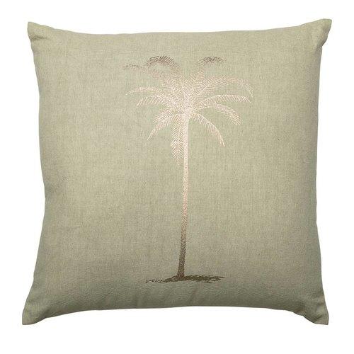 Bloomingville Kussen groen katoen palmboom 45x45