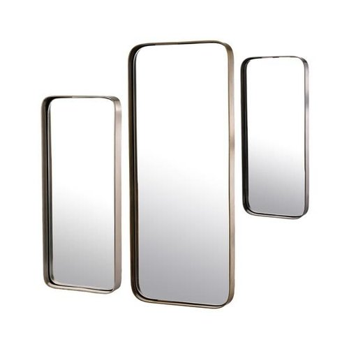 Pols Potten Metal edge rechthoekige spiegel - set van 3