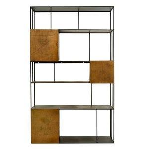 Pols Potten Shelf unit gold doors open wandkast dubbel