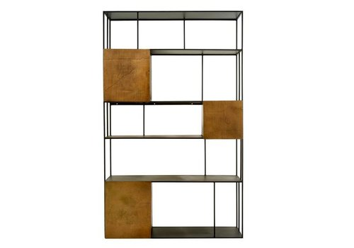 Pols Potten Shelf unit gold doors open wandkast dubbel