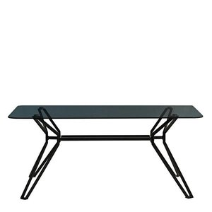 Pols Potten Rechthoekige tafel zwart en glas Pols Potten