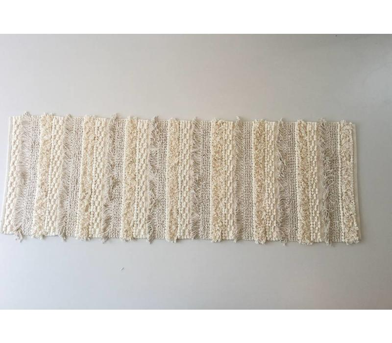 Agra tapijt Wit 60x180