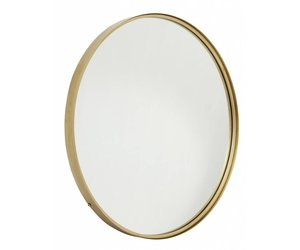 Ronde Spiegel Goud : Ronde metalen spiegel goud vida design