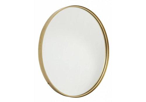 nordal Ronde metalen spiegel goud