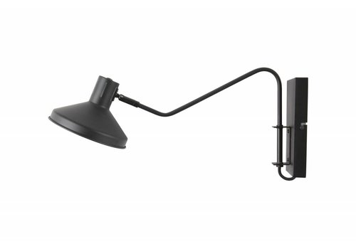 WOOOD NIEK wandlamp - metaal zwart