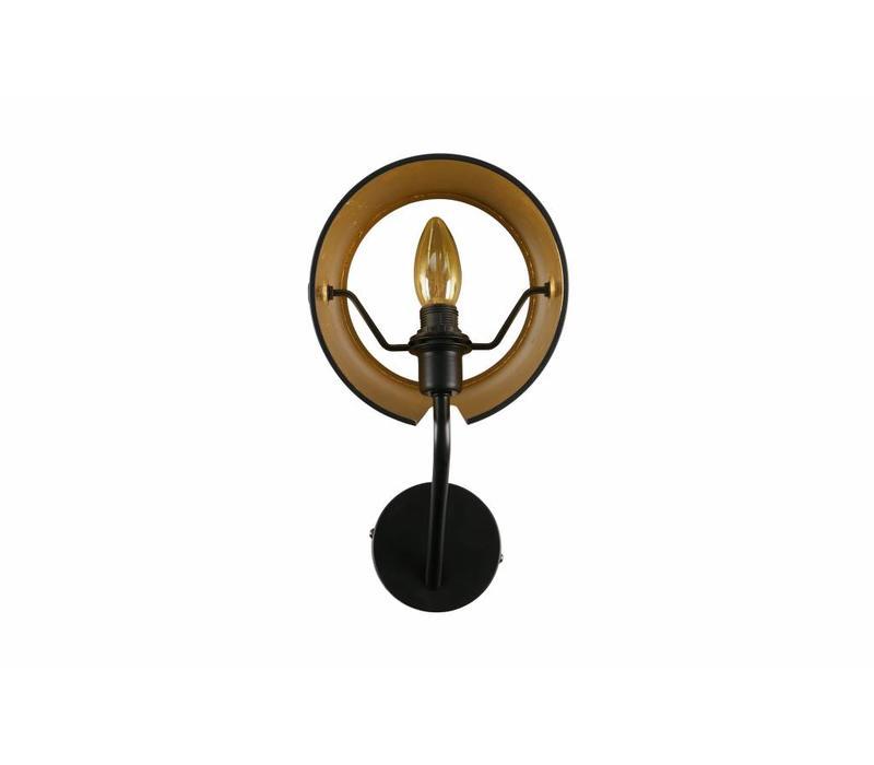 Pien wandlamp - metaal zwart