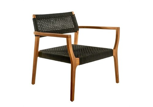 Pols Potten Lounge chair geweven touw zwart