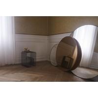 Circum ronde spiegel helder glas zwart